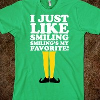 I Like Smiling (Buddy Elf Shirt) - Fun Movie Shirts