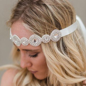 Gypsy Jeweled Tie On Headband