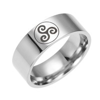 Teen Wolf Logo Stainless Steel Rings movie ring 316 Titanium men and women ring Jewelry