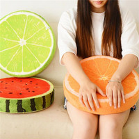 Seat Cushion Round Pillow Creative cushions home decor 3D Fruit Cushion Novelty Birthday Gift For Kids Friend