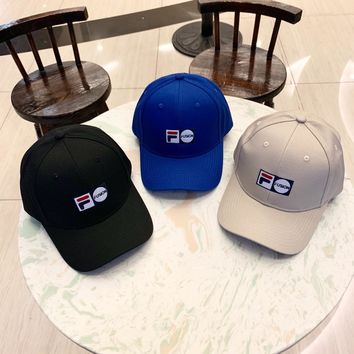 """FILA"" Unisex Casual Sports Embroidery Baseball Cap Couple Peaked Cap Sun Hat"