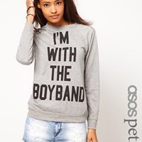 ASOS PETITE Exclusive I'm With The Boyband Sweat at asos.com