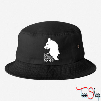 My Patronus is a Dire Wolf bucket hat