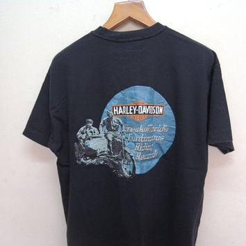 25% SALES ALERT Vintage 90's Harley Davidson Embroidery Spell Out Logo Bikers T shirt Rock Punk Tops & Tee Size L