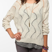 Urban Outfitters - Staring at Stars Sheer Wave Stitch Pullover Sweater