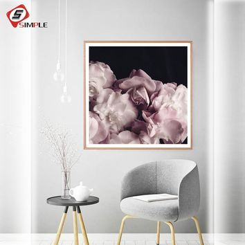 Coral Peony Flower Posters and Prints Floral Wall Art The Waratah Canvas Painting For Living Room Wall Picture Nordic Decoration