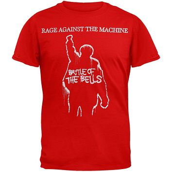 Rage Against the Machine - Battle Of The Bells Red T-Shirt