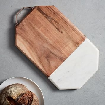 Marble + Wood Cutting Board - Large
