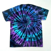 Medium Tie Dye Shirt Inverted Moon Shadow Spiral- Valentine's Day Gift for her- Valentine's Day Gift for him
