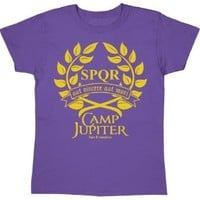 Camp Jupiter Branches - Womens Shirt - PURPLE - Large