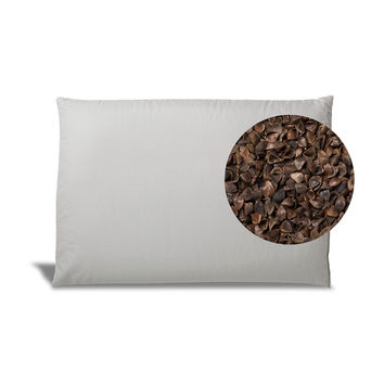 100% Organic Buckwheat Pillow for Back Sleepers
