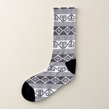 Native American Pattern Mayan Aztec Symbols 12 Socks