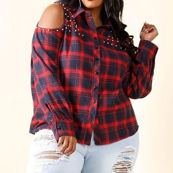 Kaelynn Cold Shoulder Shirt