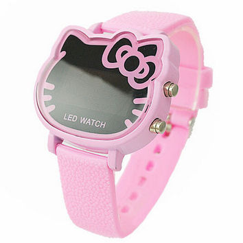Hello kitty LED Jelly Silicone Digital Watch