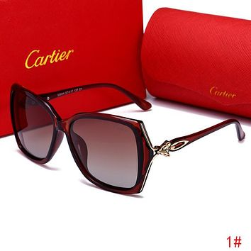 Cartier Summer Popular Woman Men Sun Shades Eyeglasses Glasses Cute Fox Head Sunglasses 1# I13517-1