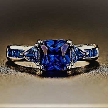Genuine Blue Sapphire Ring (4 ct. t.w.) Ring