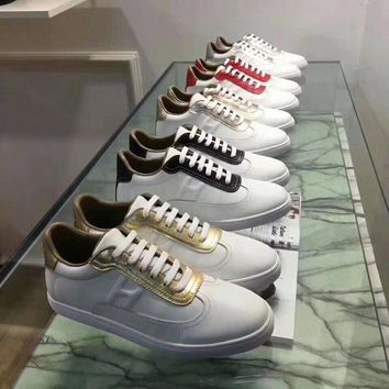 Hermes Women Trending Fashion Embroidery printing Casual Sneakers Sports Shoes