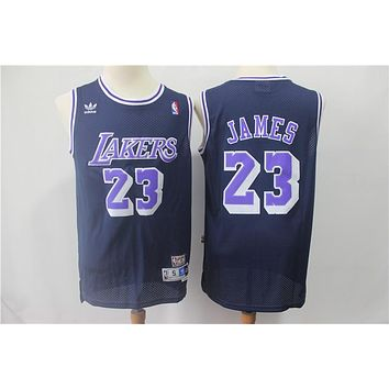 L.A. Lakers 23 LeBron James Retro Swingman Jersey
