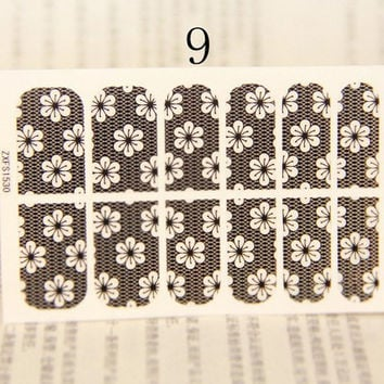 One Sheet Posy Pattern Lace Nail Art Sticker