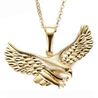 Shiny Stylish Jewelry New Arrival Gift Accessory Hot Sale Gold Hip-hop Pendant Necklace [10737328067]