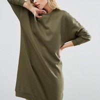 Noisy May Longline Sweat Dress at asos.com