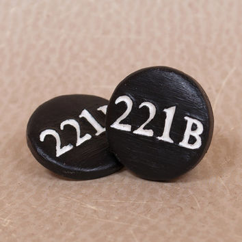 Sherlock Pinback Button, Sherlock Holmes Button, 221B Pinback Button, Sherlock 221B, 221b Baker Street, BBC Sherlock, British Books And TV