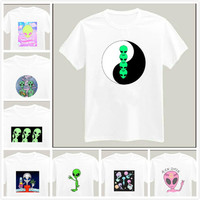 harajuku alien yin yang Print Women Tshirt Cotton Casual Shirt White Lady Top Tee Big Size Hipster HH305 396-in T-Shirts from Women's Clothing & Accessories on Aliexpress.com | Alibaba Group