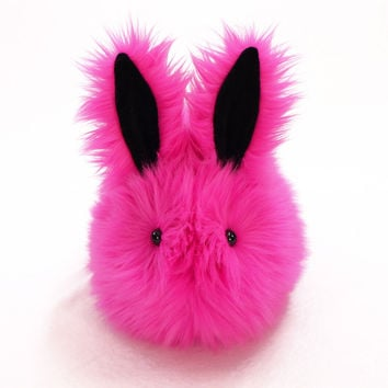 Fuchsia the Hot Pink Bunny Stuffed Animal Plush Toy