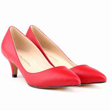 Middle Stiletto Heel Matte Shallow Women's Shoes