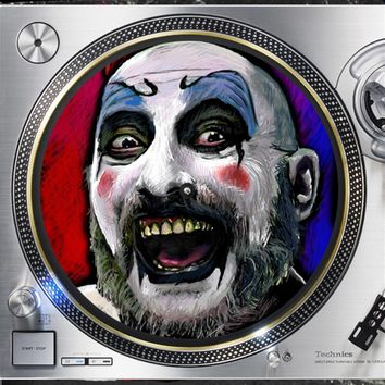 Captain Spalding Horror Clown 12 inch  Slip mat Turntable Vinyl decor Record collection DJ audiophile 16 ounce Slipmat x1.