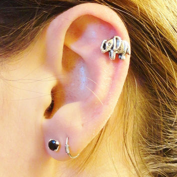 Elephant Cartliage Earring Conch Tragus Helix Piercing