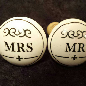 Mr. And Mrs. Wine Cork Set - Wedding Gift Wine Corks - Just Married Wine Corks