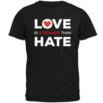 ONETOW Activist Love is Stronger Than Hate World Peace Equality Mens T Shirt