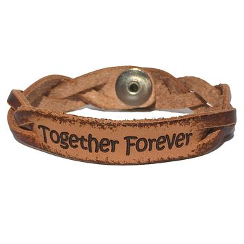 Together Forever Leather Bracelet