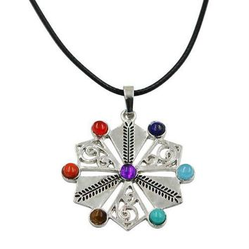 Hinduism Mandala Zen Tree Of Life Healing Reiki Meditation 7 Chakras Necklaces&Pendants Yoga Jewelry collier femme  bijoux Women style9