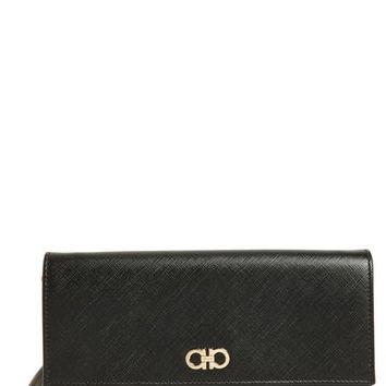 Salvatore Ferragamo Saffiano Leather Wallet on a Chain | Nordstrom