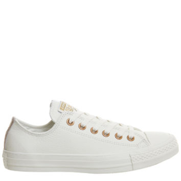 Converse All star Low Leather Trainers Egret Rose Gold Snake Exclusive - Unisex Sports