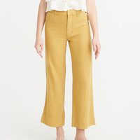 Womens Wide Leg Linen Pants | Womens Bottoms | Abercrombie.com