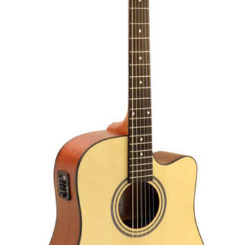 Hohner AS305CE-NS Dreadnought Natural Satin Acoustic-Electric Guitar
