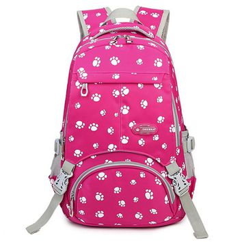 Large Capacity School Bags for Teenagers Girls Satchel Women College Student Travel Bag Paw Printing Backpack mochilas