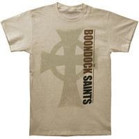 Boondock Saints Men's  Big Cross T-shirt Ivory Rockabilia
