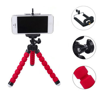 Mini Portable Tripod with Flexible Phone Tripod Clip for Phone 360 Degree Rotating Universal Tripods for Action Camera