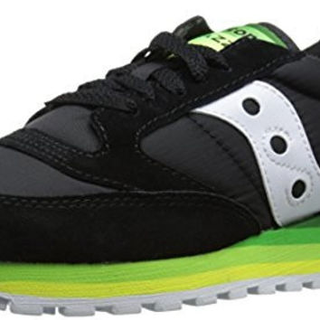 Saucony Originals Women's Jazz O Rainbow Classic Retro Running Shoe, Black/Green, 12 M US