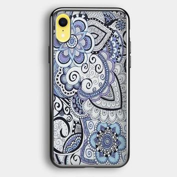 Zentangle Art Flowers iPhone XR Case | Casefruits