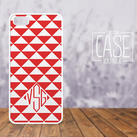 Personalized iPhone 4 / 4s or iPhone 5 Case - Plastic iPhone case - Rubber iPhone case - Monogram iPhone case - CB007