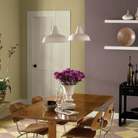 Fun Informal Purple Dining Room