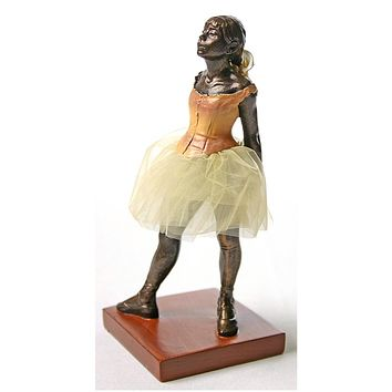 Little Dancer of Fourteen Years with Fabric Skirt by Degas, 6.5H