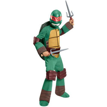 Boy's Costume: Teenage Ninja Mutant Turtles Raphael Deluxe | Medium