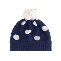 GIRLS' POLKA-DOT CASHMERE HAT