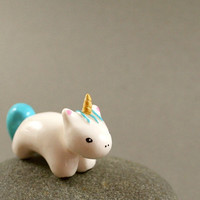 Motion Unicorn - Hand Sculpted Miniature Polymer Clay Animal